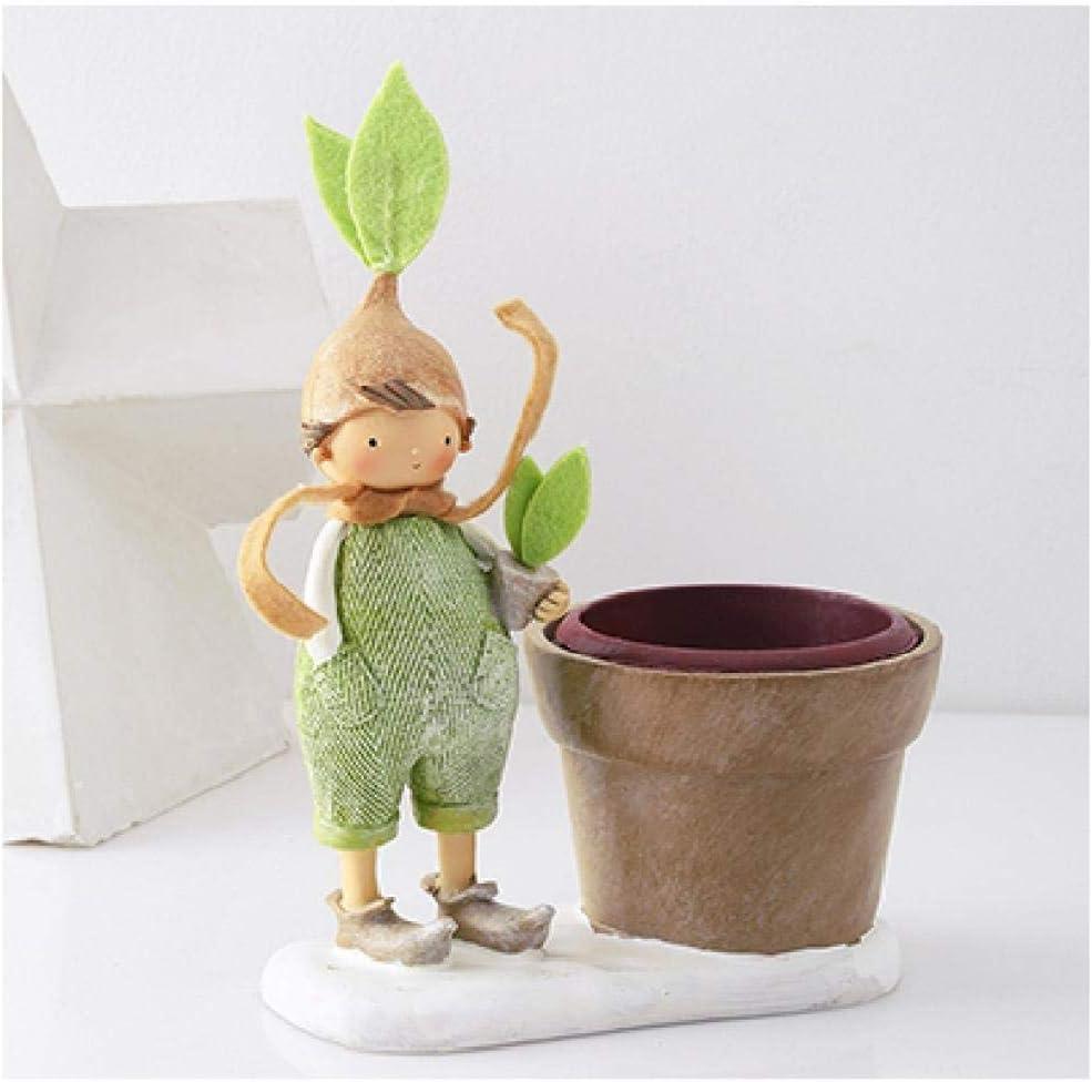 BFRTH Statues Decor Green Doll Miniatures Cartoon Overseas parallel import regular item Resin Figurine Selling