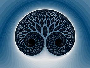 Afdrukken Blauwe levensboom mandala - 180 * 230cm wandtapijten,wandtapijten woondecoratie voor slaapkamer woonkamer