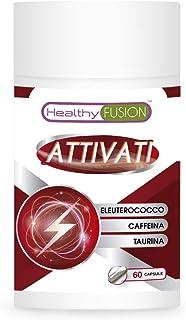 Taurina + caffeina + eleuterococo | Potente stimolante energetico | Elimina la fatica e migliora la resistenza | Migliora ...