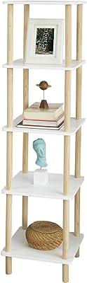 SoBuy STR04-K-WN Estantería de 5 Niveles para Baño Librería Escalera 36 * 36 * 138 cm ES (36 x 36 x 138 cm): Amazon.es: Hogar