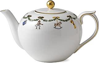 Royal Copenhagen Star Fluted Christmas 1016965 Tea Pot 48 oz.