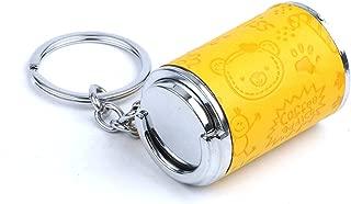 HLJ Fashion Keychain Creative Embossed Keychain Car Key Chain Birthday Gift Key Ring (Color : Yellow)