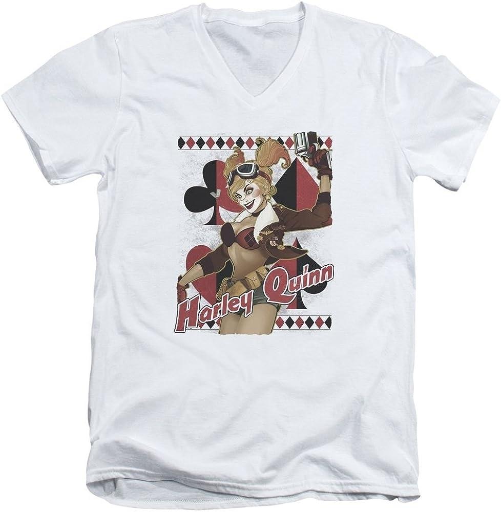 Sons of Gotham Harley Quinn - Bombshell Adult V-Neck T-Shirt