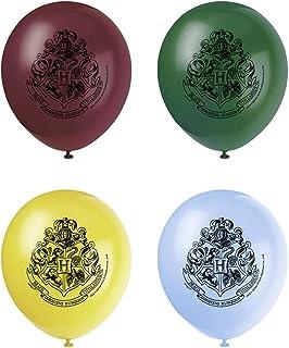 Unique Party - Globos de Látex - 30 cm - Diseño de Harry Potter - Paquete de 8 (59075)