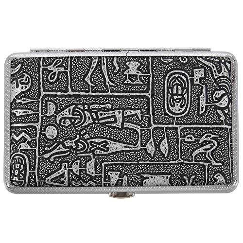 OVBBESS Personalidad a prueba de humedad antipresión delgada Cortical estilo egipcio caja de cigarrillos