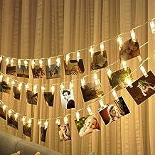 Lichtketting met 30 leds, warmwit, 3 m, wanddecoratie voor foto's, memo's, kunstwerken, Kerstmis, verjaardag, Valentijnsda...