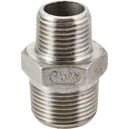 "NPT 3//4/"" to 1//2/"" Nipple Thread Reducer Pipe Fittings Female F//F SUS 304 megairon"