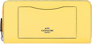 [コーチ] COACH 財布(長財布) F54007 ライトイエロー クロスグレーン レザー アコーディオン ジップ アラウンド レディース [アウトレット品] [ブランド] [並行輸入品]