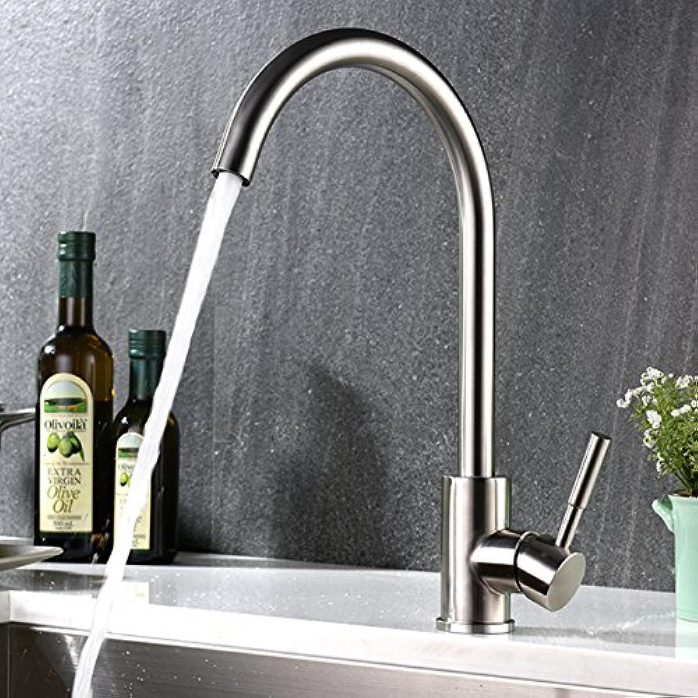 OOFAY TAPS Edelstahl-gebürsteter Mischer-Küche-Bassin-Hahn 62000 (62108)(Kein Schlauch enthalten, bitte kaufen)