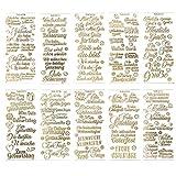 Gravur-Sticker, transparent/gold, 10 Bogen à 10 x 23 cm   Goldene Aufkleber zum Basteln & Dekorieren   Karten & Geschenke zu Geburtstag, Weihnachten, Rente & mehr (Wünsche & Gratulationen - gold)