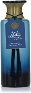 Ashleigh & Burwood The Heritage Collection Glass Reed Diffuser Large Empty Vase- Bottle Blue