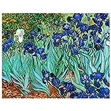 Legendarte - Cuadro Lienzo, Impresión Digital - Lirios - Vincent Van Gogh - Decoración Pared cm. 40x50