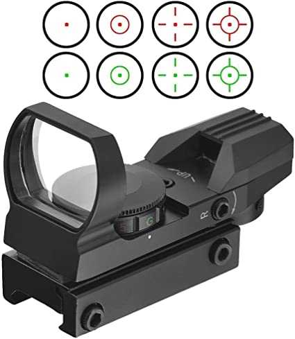 Green Red Dot Sight Scope Rifle Rail Mount Tactical Hunting Adjustable 20mm NEW