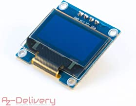AZDelivery 0.96 Inch OLED Display 128 x 64 Pixels I2C Module for Arduino and Raspberry Pi