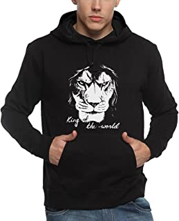 ADRO Men's Lion Printed Cotton Hoodies