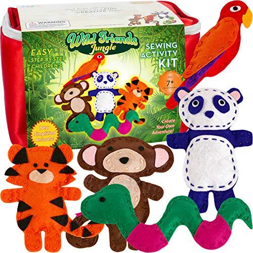 Wild Friends Jungle Sewing & Craft Kit - Tiger