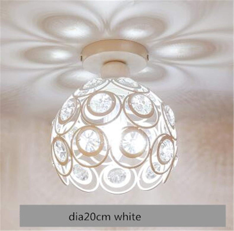 T-Tonranp Kronleuchter-Decken-Kristalldeckenleuchten-Kronleuchter-Kronleuchter für die Küche dia20cm Weiß warm Light