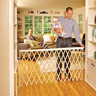 "Toddleroo by North States 60"" wide Expandable Swing Baby Gate: Easy to install and perfect for extra wide openings. Hardware Mount. Fits 24"" - 60"" wide. (32"" tall, Sustainable Hardwood)"