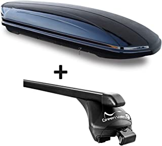 Alu-Relingtr/äger Dachgep/äcktr/äger aufliegende Reling im Set kompatibel mit Mercedes GLA X156 ab 14 VDP Dachbox schwarz matt MAA320M g/ünstiger Auto Dachkoffer 320 Liter abschlie/ßbar