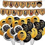 Juego de suministros para fiestas de cumpleaños de Mago Magico, Mago Magico Party Banner de feliz cumpleaños y globos para fiestas de cumpleaños para niños