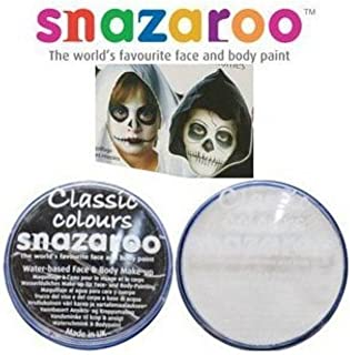 Halloween Snazaroo Black & White Water Based Face & Body Paint Fancy Dress Set