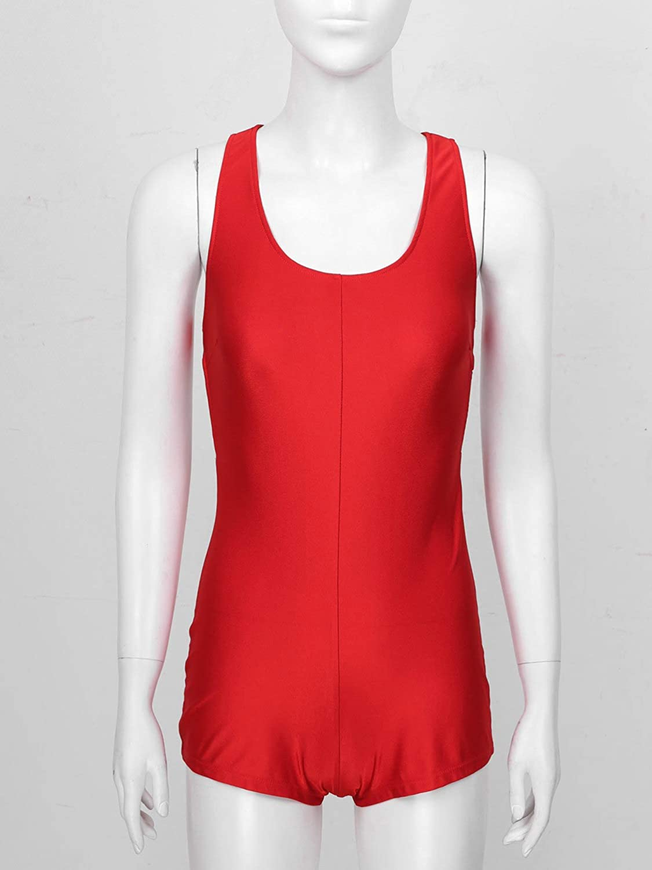 ACSUSS Women Leopard Print Scoop Neck Sleeveless Short Jumpsuits Fitness Sports Leotard Bodysuit