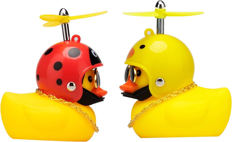 wonuu Car Dashboard Decorations 4 Pack Cute Rubber Duck Car Ornaments Duck Ornament Rubber Duck for Car Yellow Rubber Ducks Cool Ornaments