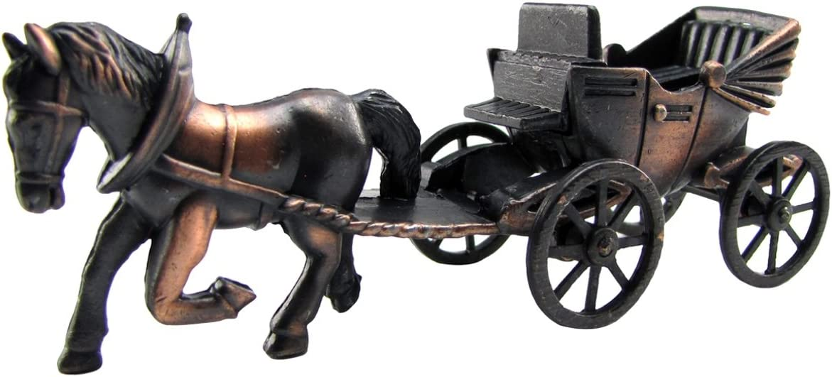Treasure Gurus Over item handling Die Cast Horse and Indianapolis Mall Toy Carriage Pencil Sharpener