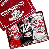 Nuts Gift Box – Cashews, Almonds, and Peanuts - Beer and Bourbon Flavored Nuts - Beautiful Tin Gift Box – 1lb