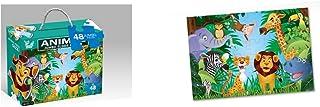 Roymart - Puzzle set of 48 animal pieces, colour (multicoloured) (CC-0753)