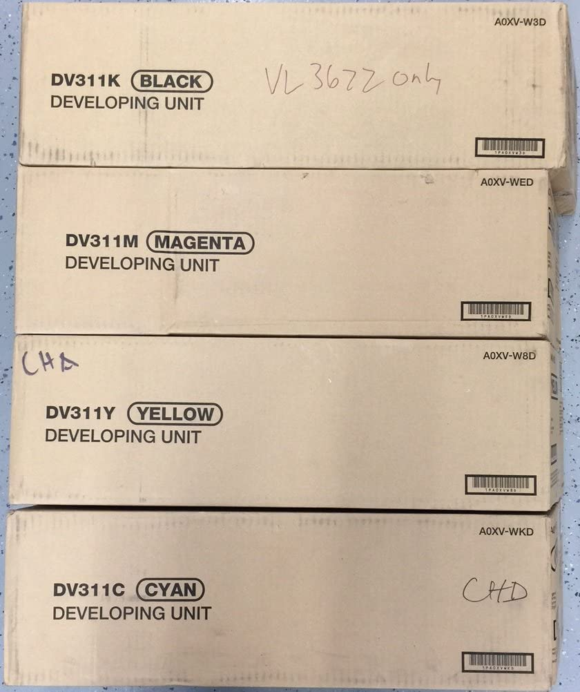 Genuine Konica Minolta DV311 Sale special price CMYK Developing C for C220 Choice Unit Set