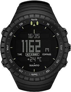 Core All Black Digital Display Quartz Watch, Black Elastomer Band, Round 49.1mm Case