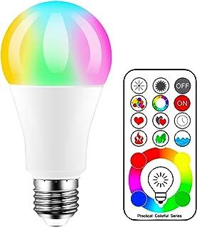 iLC LED Ampoules de couleur, équivalente 70W, Edison Changement de Couleur Ampoule RGB+Blanc Dimmable - 120 Choix de Coule...