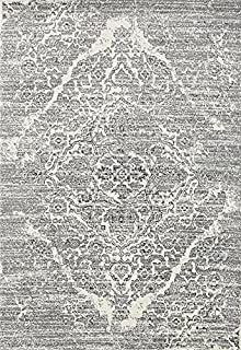 Persian-Rugs 4620 Distressed Silver 7'10x10'6 Area Rug Carpet Large New