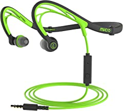 Foldable Wired Running Sports Headphones, Night Neckband in-Ear Stereo Workout Earphones..