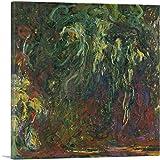 ARTCANVAS Weeping Willow 1920 Canvas Art Print by Claude Monet - 36' x 36' (0.75' Deep)