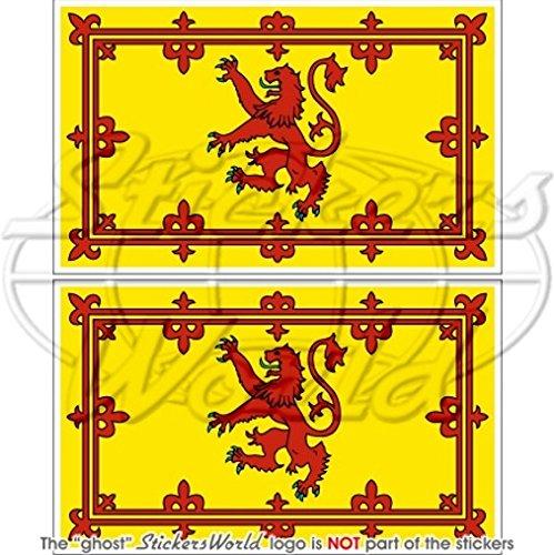 Schottland Royal Standard Schottische Flagge Lion Rampant 10,2cm (100mm) Bumper Sticker, Aufkleber Vinyl X2