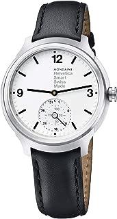 Mondaine Helvetica No1 Bold Stainless Steel Mens Smartwatch MH1.B2S10.LB Black Leather Strap Quartz