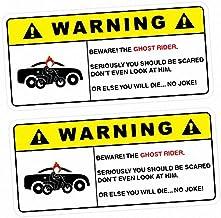 Sticker Collective 2X Advertencia El Motorista Fantasma de la Etiqueta engomada