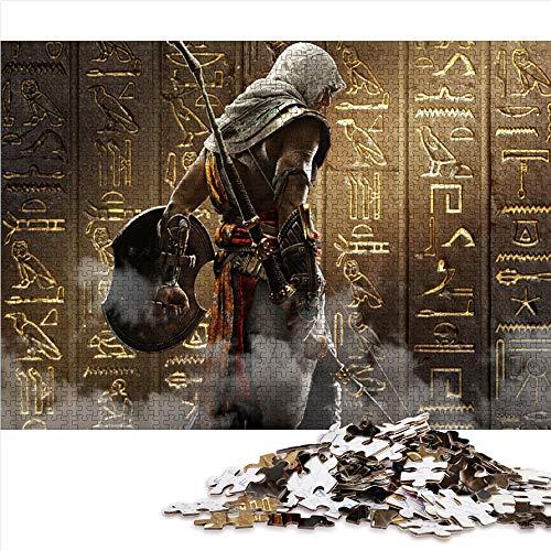 Puzzle de 1000 piezas para adultos y adolescentes Assassin's Creed-Origins Juegos de rompecabezas de temas la película Rompecabezas Juegos familiares a gran escala,regalos para amigos 75x50cm