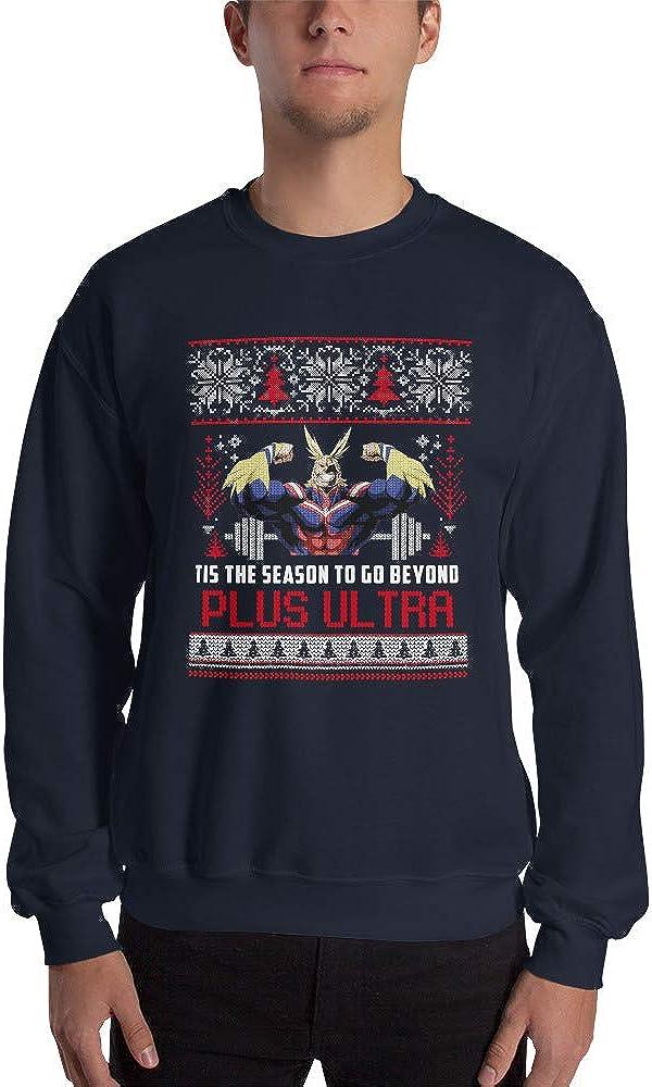 All Might My Hero Academia Go Beyond Plus Ultra Ugly Christmas Sweater Print Men/Women Unisex Sweatshirt