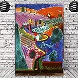 David Hockney Mulholland Drive Leinwand Malerei Poster