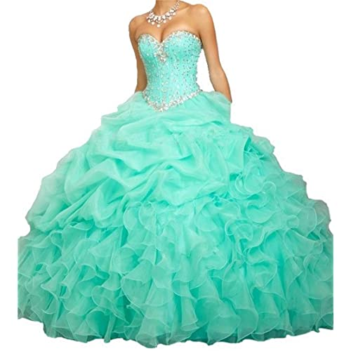 8a5f504d349 BanZhang Women s Quinceanera Dresses Ball Gown Beaded Long Prom Dress B314