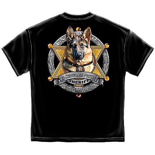 8660ac867153f4 Law Enforcement T-Shirt Elite Breed K9 Sheriff Black