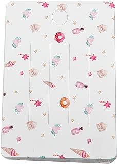 Monrocco 100pcs Cute Hair Bow Cards Hair-Bow Display Cards for Clips
