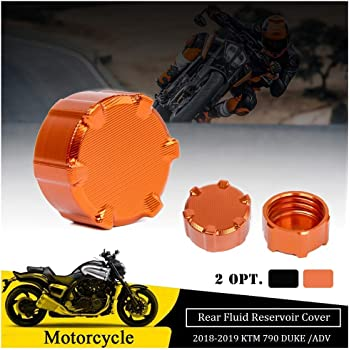 Rear and Front Brake Reservoir Cover Compatible with 2018-2019 KTM 790 Duke//Adventure//Adventure R SMT