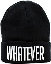 AutumnFall Winter Black Whatever Beanie Hat Hip-Hop Cap