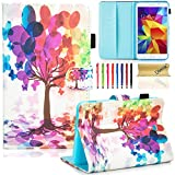 Dteck Case for Samsung Galaxy Tab 4 7.0 inch Case SM-T230/Nook 7.0 inch Tablet Case - PU Leather Folio Stand Case with [Card Slots] Wallet Case for Tab 4 7.0 inch T230/T231/T235, Butterfly Tree