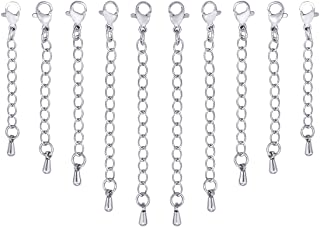 7 mm trou 10x Bijoux Collier Bracelet Perle Bouchon Attache Fermoir 4 Couleurs