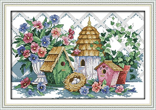 Cross Stitch Kits Pre-Printed Cross Stiching Stamped Cross Stitch Kit 14CT DIY Art Crafts for Beginners Summer Home